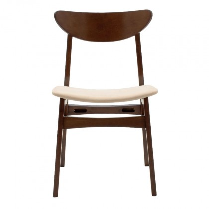 Jedálenské stoličky Jedálenská stolička Abbi orech, béžová