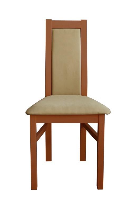 Jedálenské stoličky Jedálenská stolička Agáta stredný orech, krémová