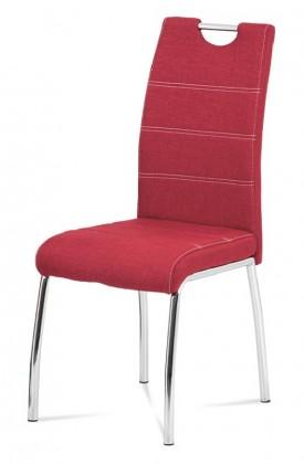 Jedálenské stoličky Jedálenská stolička Gasela červená/chróm