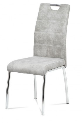 Jedálenské stoličky Jedálenská stolička Gasela strieborna/chróm