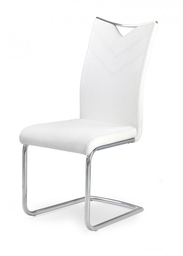 Jedálenské stoličky Jedálenská stolička K224 (biela, strieborná)