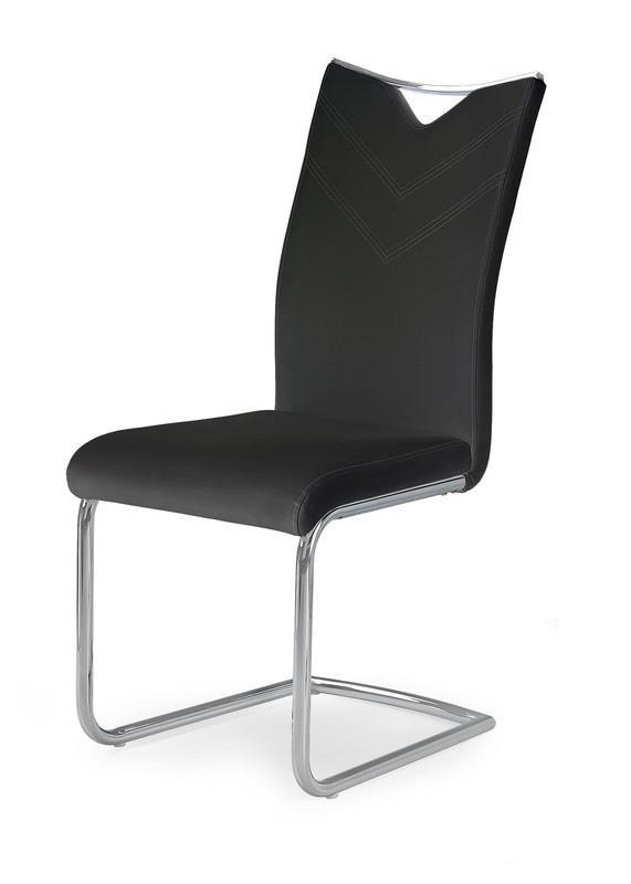 Jedálenské stoličky Jedálenská stolička K224 (čierná, strieborná)