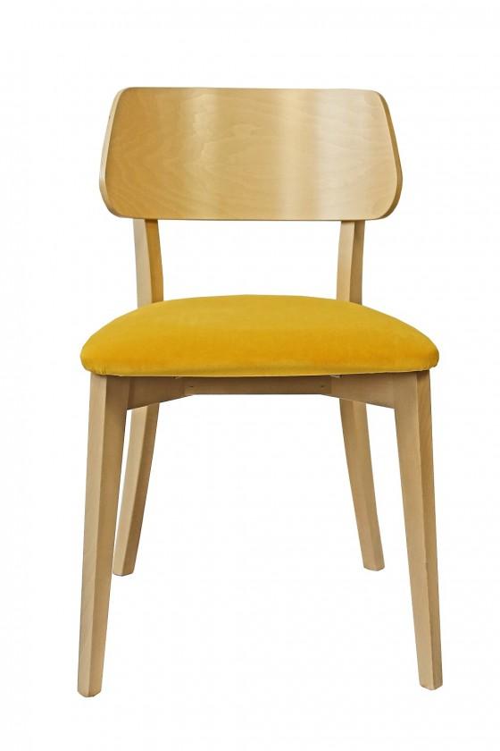 Jedálenské stoličky Jedálenská stolička Medal dub, žltá