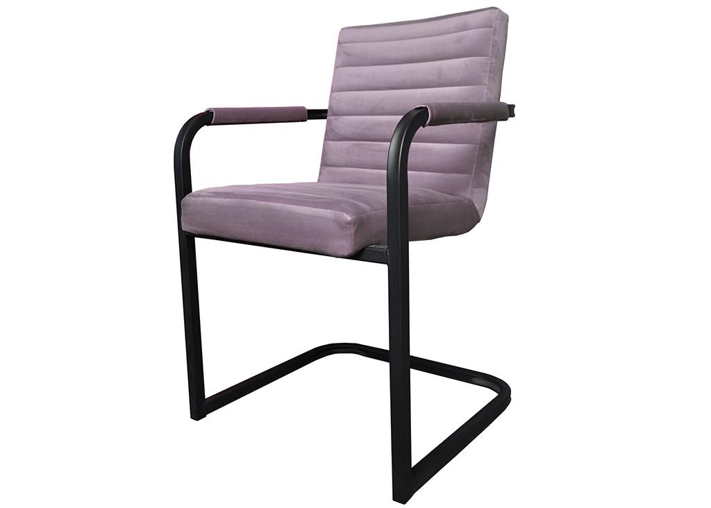 Jedálenské stoličky Jedálenská stolička Merenga čierna, svetlo ružová