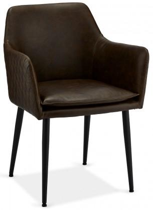 Jedálenské stoličky Jedálenská stolička Monda tmavo hnedá, čierna