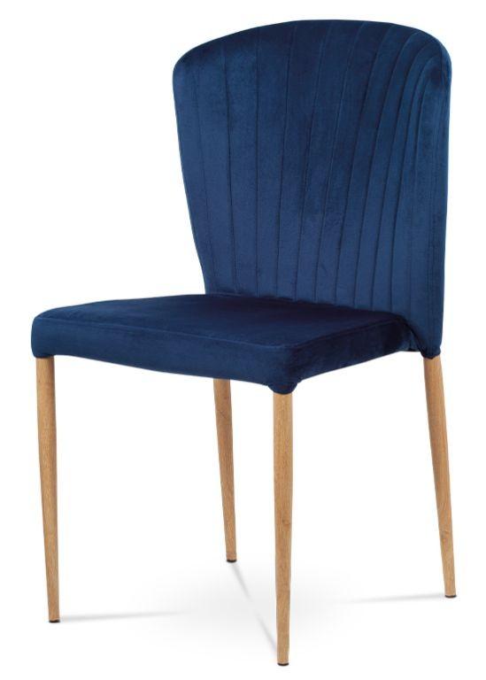 Jedálenské stoličky Jedálenská stolička Nitte dub, modrá