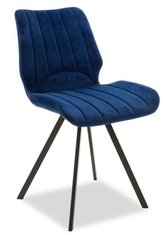 Jedálenské stoličky Jedálenská stolička Stacy čierna, modrá