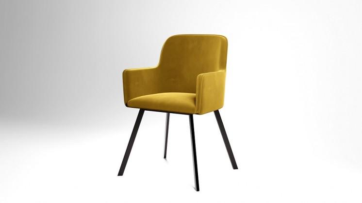 Jedálenské stoličky Jedálenská stolička Vian horčicová, čierna