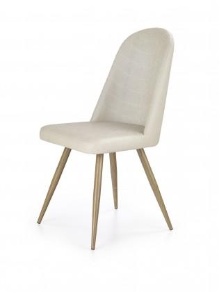 Jedálenské stoličky K214 - Jedálenská stolička (tmavo krémová, dub medový)