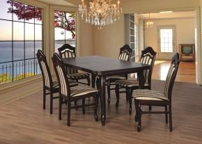 Jedálenský set 23 - Stôl 160x90,6x stolička (dub/líra 4)