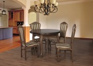 Jedálenský set 29 - Stôl O 100,4x stolička (dub/líra 4)