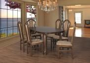 Jedálenský set 30 - Stôl 160x90,6x stolička (dub/monako 2A)