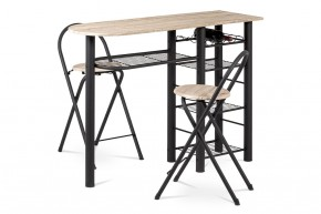 Jedálenský set Petit - 2x stolička, 1x stôl (dub, čierna)