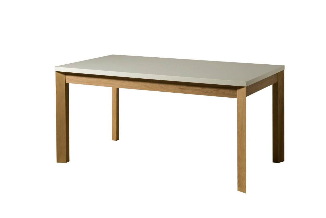 Jedálenský stôl Almera - Jedálenský stôl 160 cm (biela/dub)