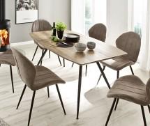 Jedálenský stôl Andres (dub, čierna)