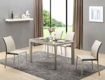 Jedálenský stôl Arabis rozkladací (sklo,svetlo hnedá,béžová)