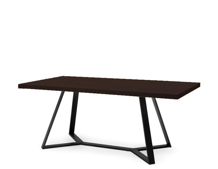 Jedálenský stôl Archie (kostra antracit/deska čokoládový jaseň)