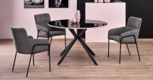 Jedálenský stôl Arthur (čierna, biela)