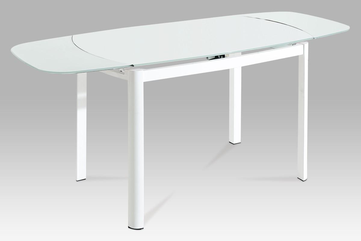 Jedálenský stôl AT - jedálenský stôl (biele sklo/biely lak)