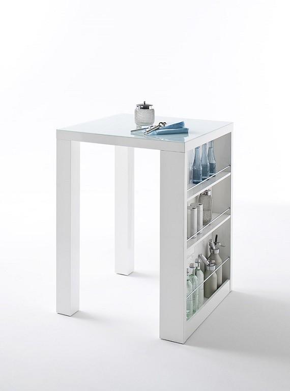 Jedálenský stôl Barový stolík Clero (biela)