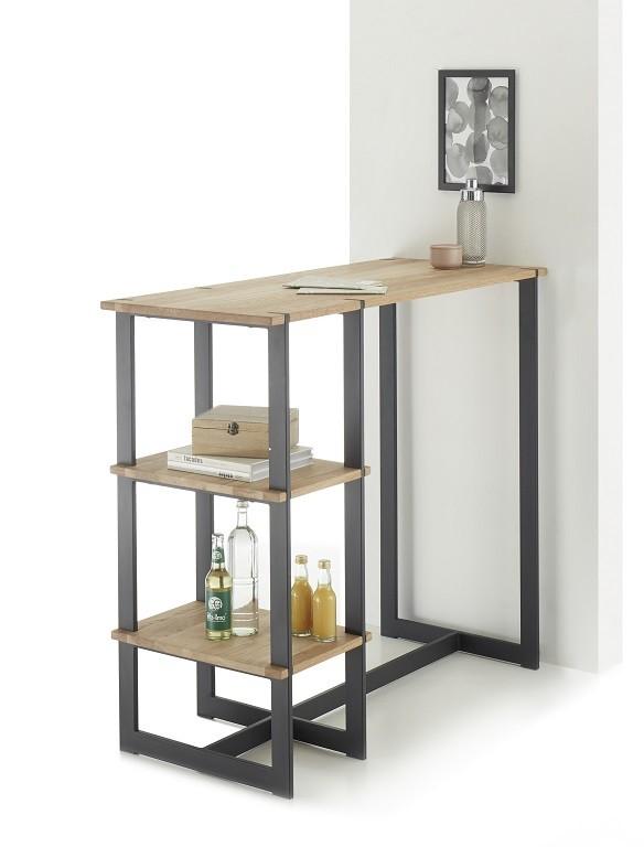 Jedálenský stôl Barový stolík Ponce (dub, čierna)