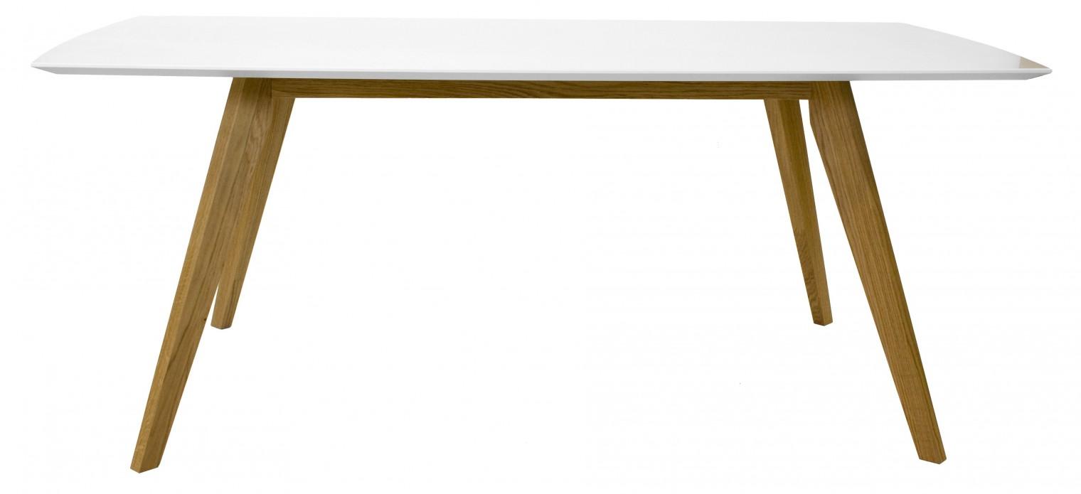 Jedálenský stôl BESS 2180-001(biela/dub)