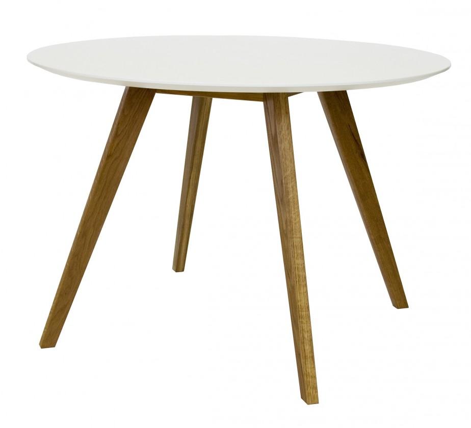 Jedálenský stôl BESS 2181-001(biela/dub)