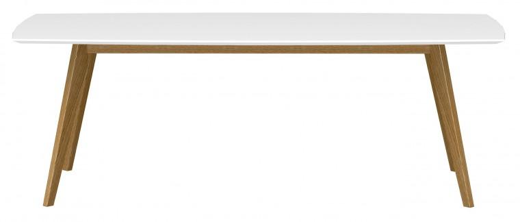 Jedálenský stôl BESS 2183-001(biela/dub)