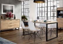 Jedálenský stôl Brick (dub craft/čierna)