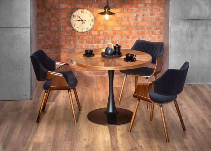 Jedálenský stôl Caldas (orech, čierna)