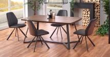 Jedálenský stôl Caleb (dub, grafit)
