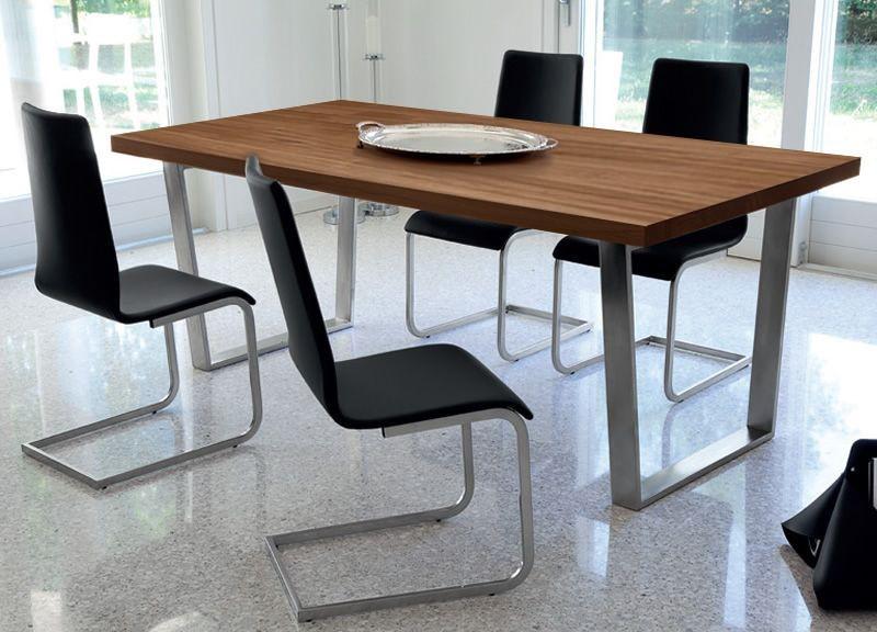 Jedálenský stôl Cruise - 240 cm (kostra nikl/deska orech)