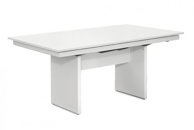 Jedálenský stôl Deck 160 cm (doska biela/kostra panely biela)