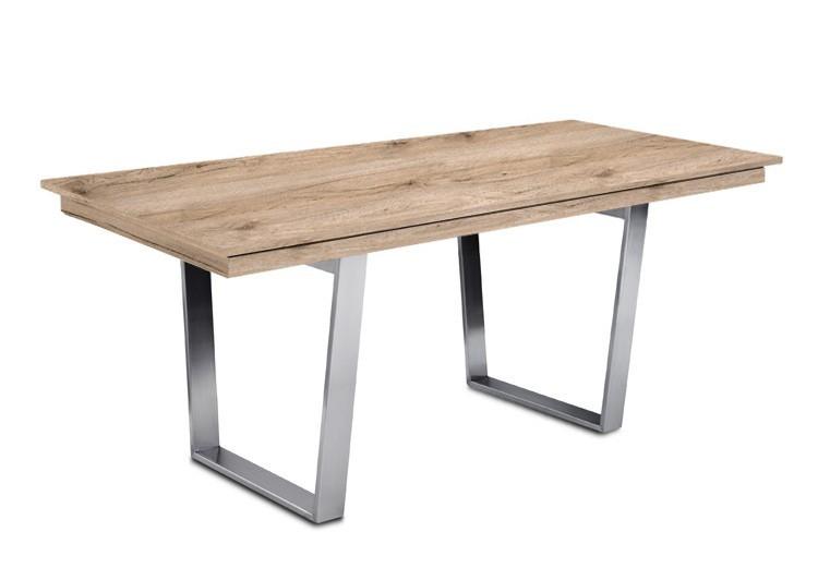 Jedálenský stôl Deck 160 cm (doska pieskový dub/kostra oceľ)