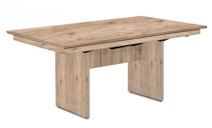 Jedálenský stôl Deck 160 cm (doska pieskový dub/kostra panely pieskový dub)