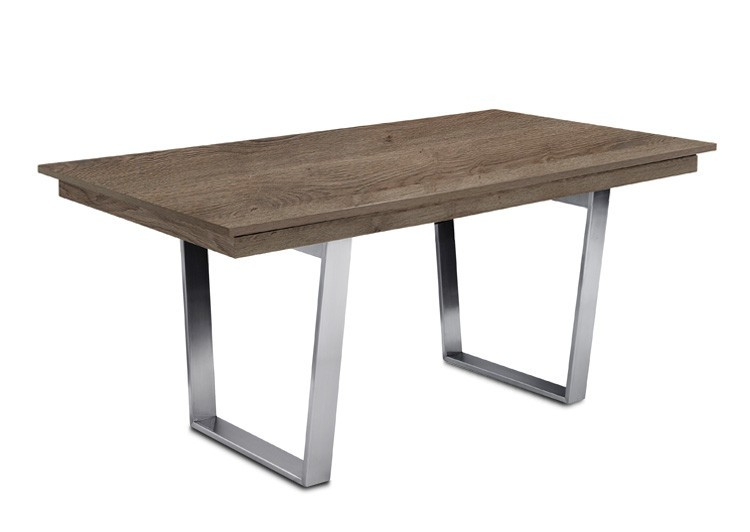 Jedálenský stôl Deck 160 cm (doska tmavý dub/kostra oceľ)