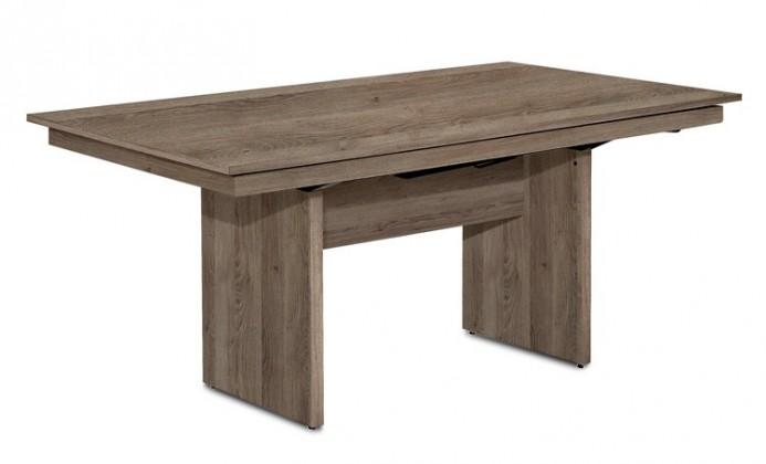 Jedálenský stôl Deck 160 cm (doska tmavý dub/kostra panely tmavý dub)