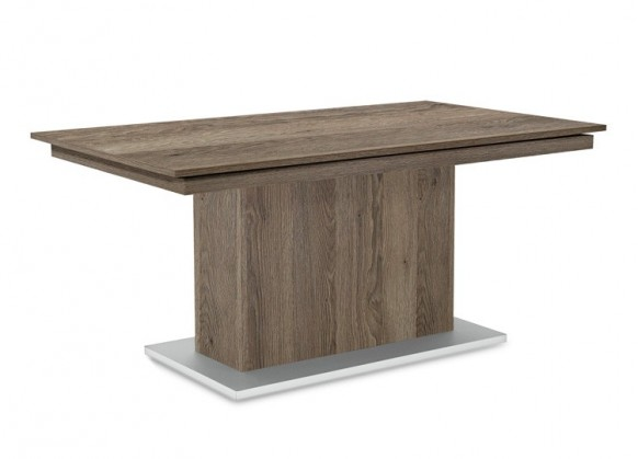 Jedálenský stôl Deck 160 cm (doska tmavý dub/kostra postavec tmavý dub)