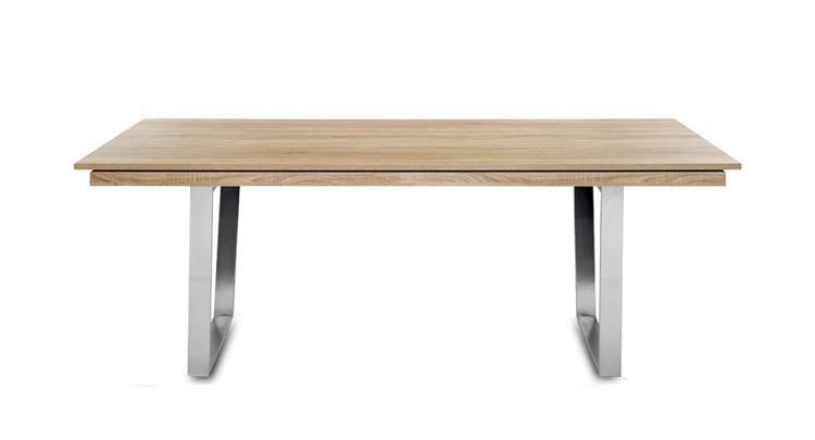 Jedálenský stôl Deck 160 cm, rozkladacia (doska dub/kostra oceľ)