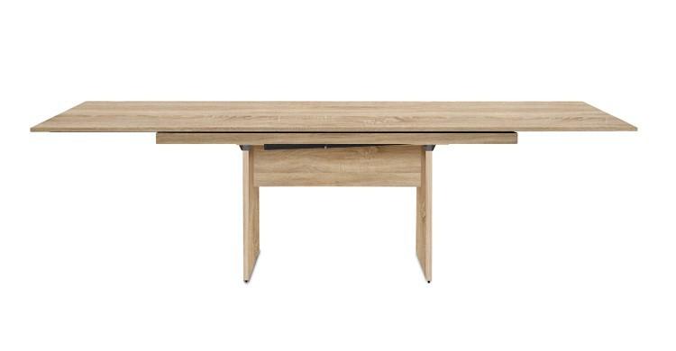 Jedálenský stôl Deck 160 cm, rozkladacia (doska dub/kostra panely dub)