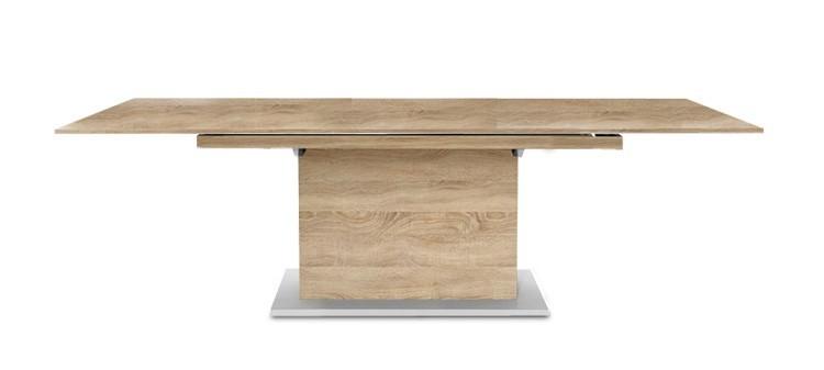Jedálenský stôl Deck 160 cm, rozkladacia (doska dub/kostra postavec dub)