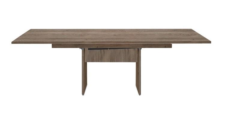 Jedálenský stôl Deck 160 cm, rozkladacia (tmavý dub/kostra panely tmavý dub)