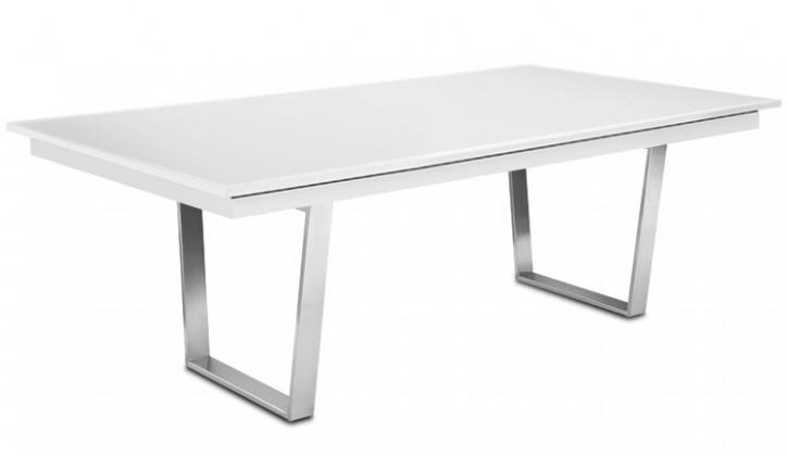 Jedálenský stôl Deck 190 cm (doska biela/kostra oceľ)