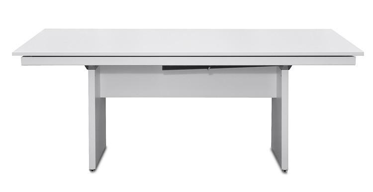 Jedálenský stôl Deck 190 cm (doska biela/kostra panely biela)