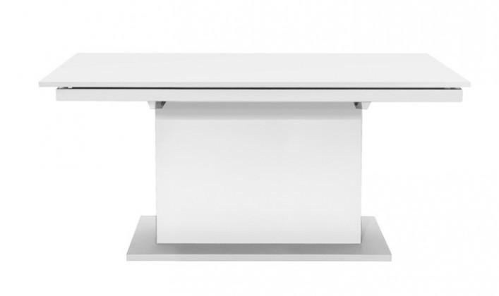 Jedálenský stôl Deck 190 cm (doska biela/kostra postavec biela)