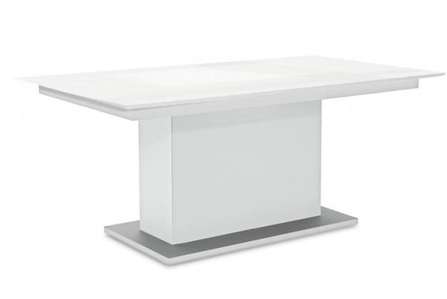 Jedálenský stôl Deck 190 cm (doska biela lesk/kostra postavec biela)