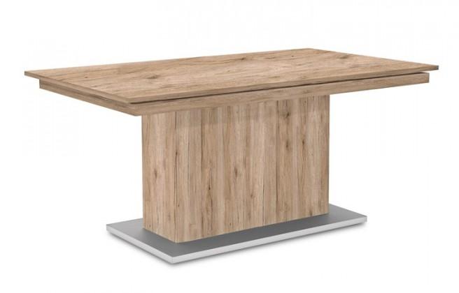 Jedálenský stôl Deck 190 cm (doska pieskový dub/kostra postavec pieskový dub)