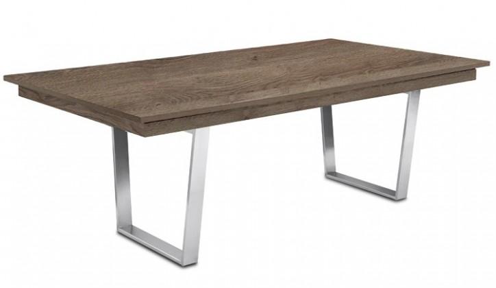 Jedálenský stôl Deck 190 cm (doska tmavý dub/kostra oceľ)