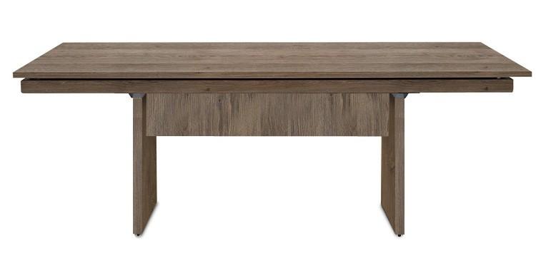 Jedálenský stôl Deck 190 cm (doska tmavý dub/kostra panely tmavý dub)