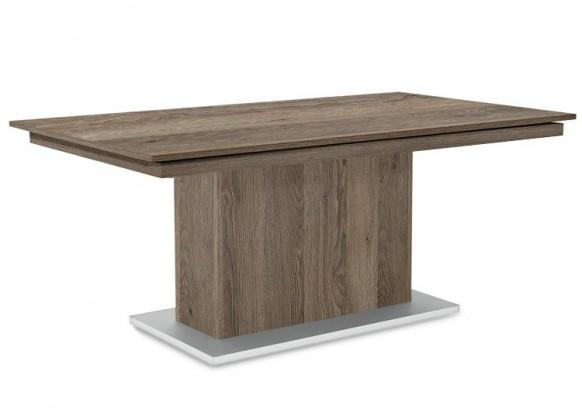 Jedálenský stôl Deck 190 cm (doska tmavý dub/kostra postavec tmavý dub)